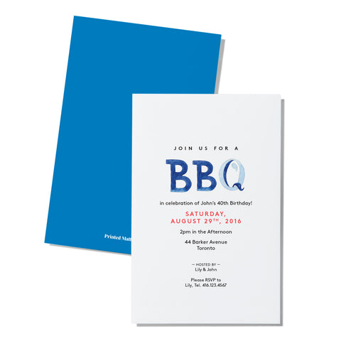 Casual event - Blue letters - Printed Matter
