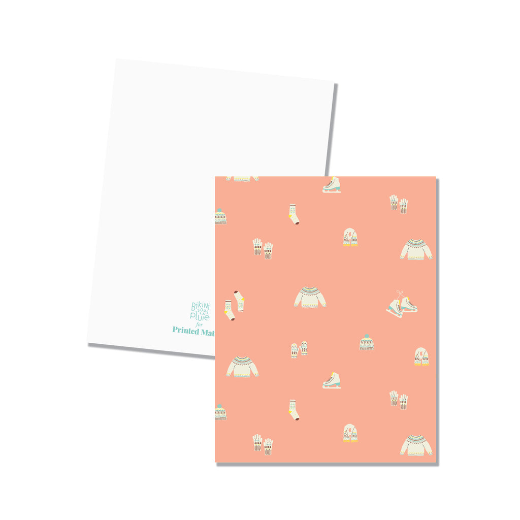 christmas sweater folded note cards printed matter