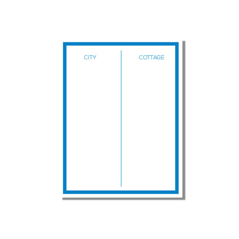 City/Cottage notepad - Printed Matter