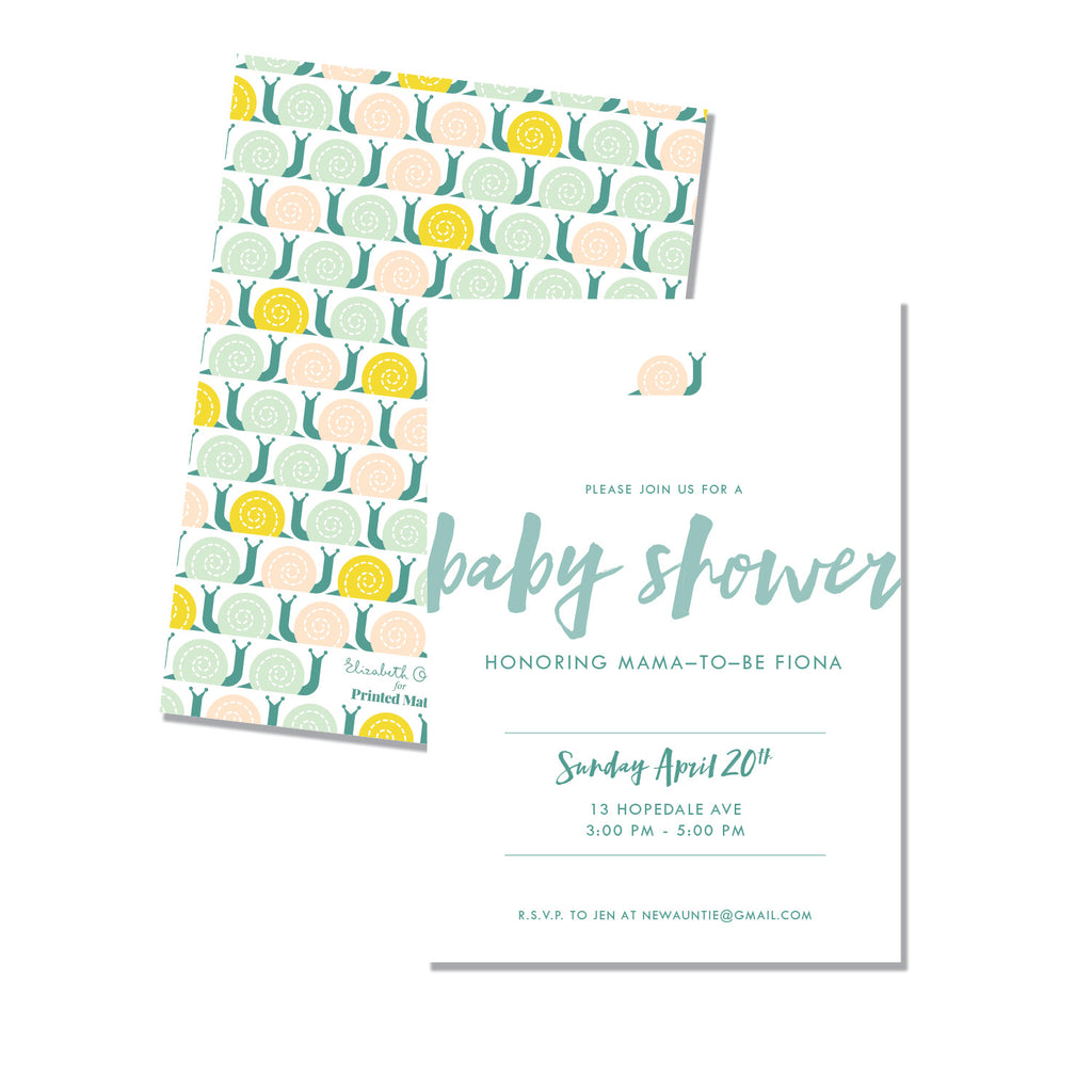 Snail Baby Shower - Printed Matter