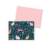 Spring Bunnies - Folded notecard - Printed Matter