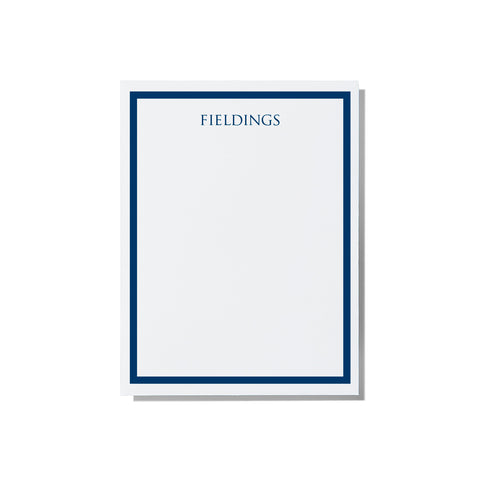 Border - Notepad (Blue, Turquoise, Grey, Serenity) - Printed Matter