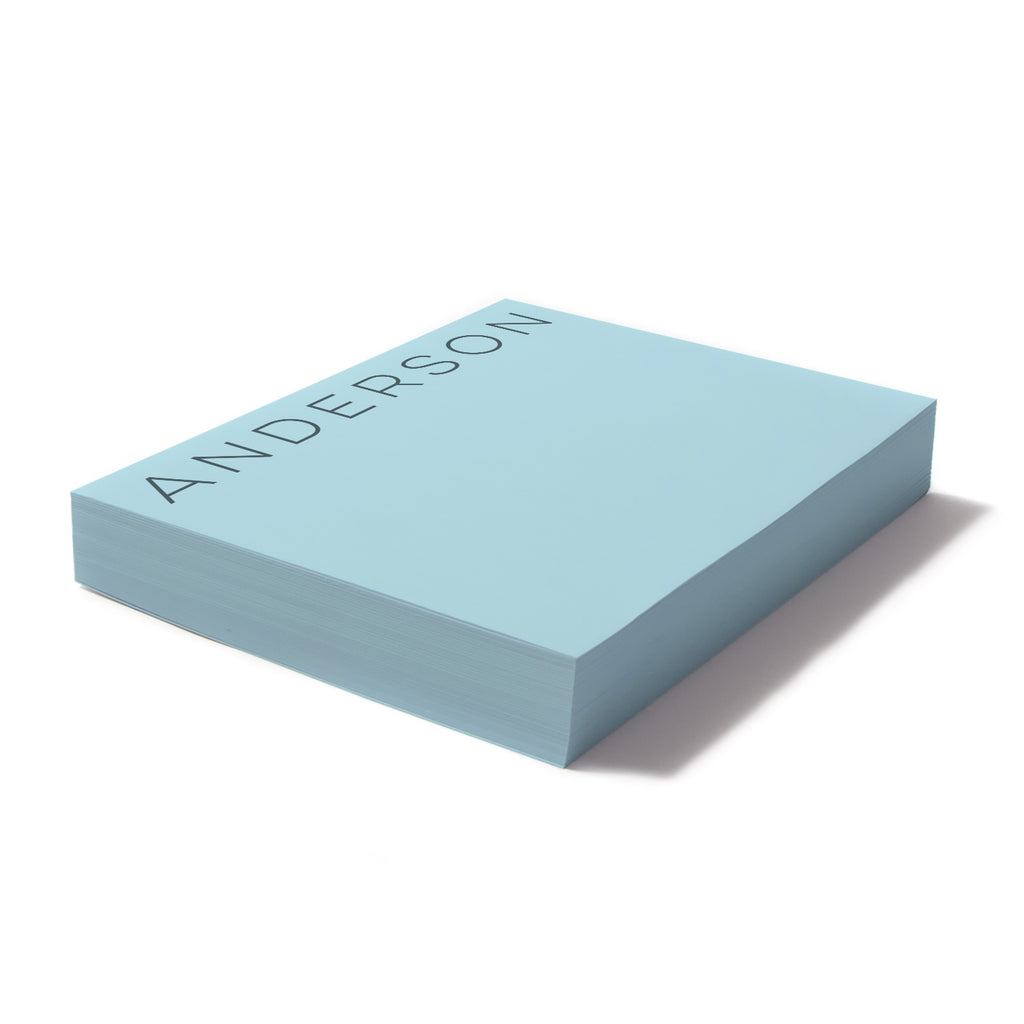 Blue paper note block - Printed Matter