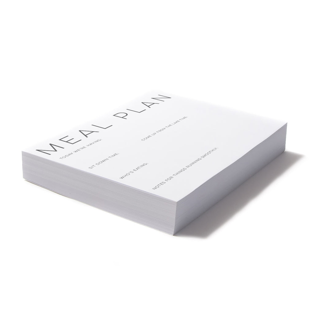 Meal Plan noteblock - Printed Matter