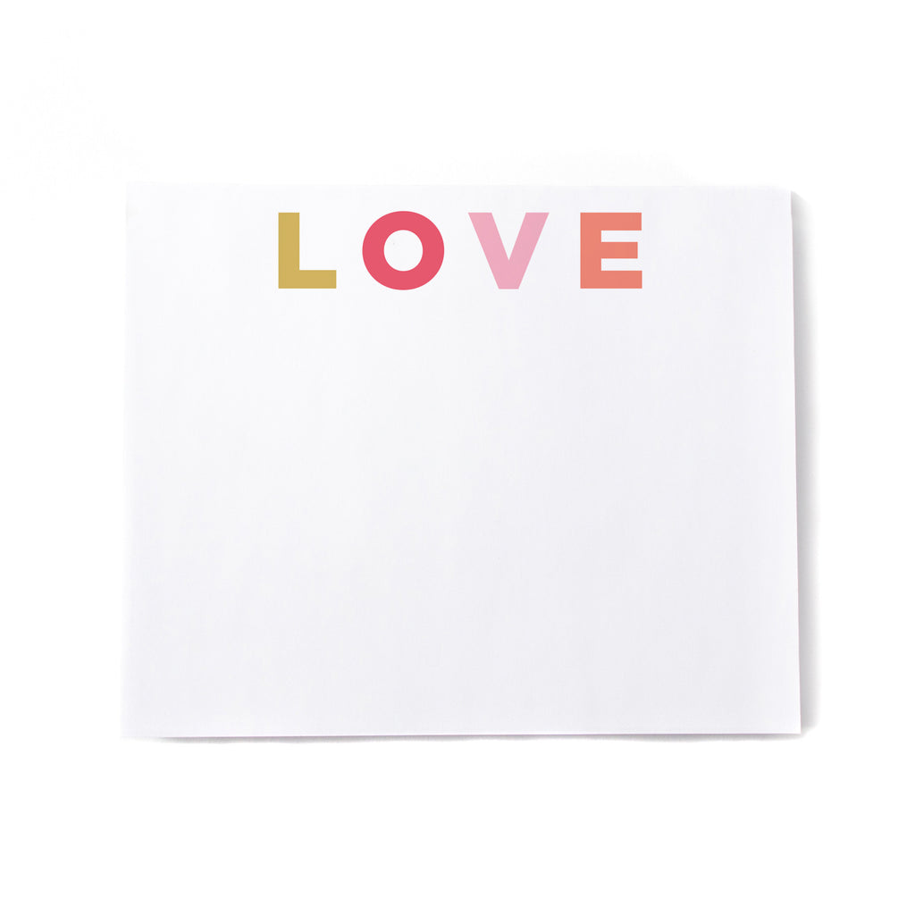 Multi LOVE Noteblock - Printed Matter