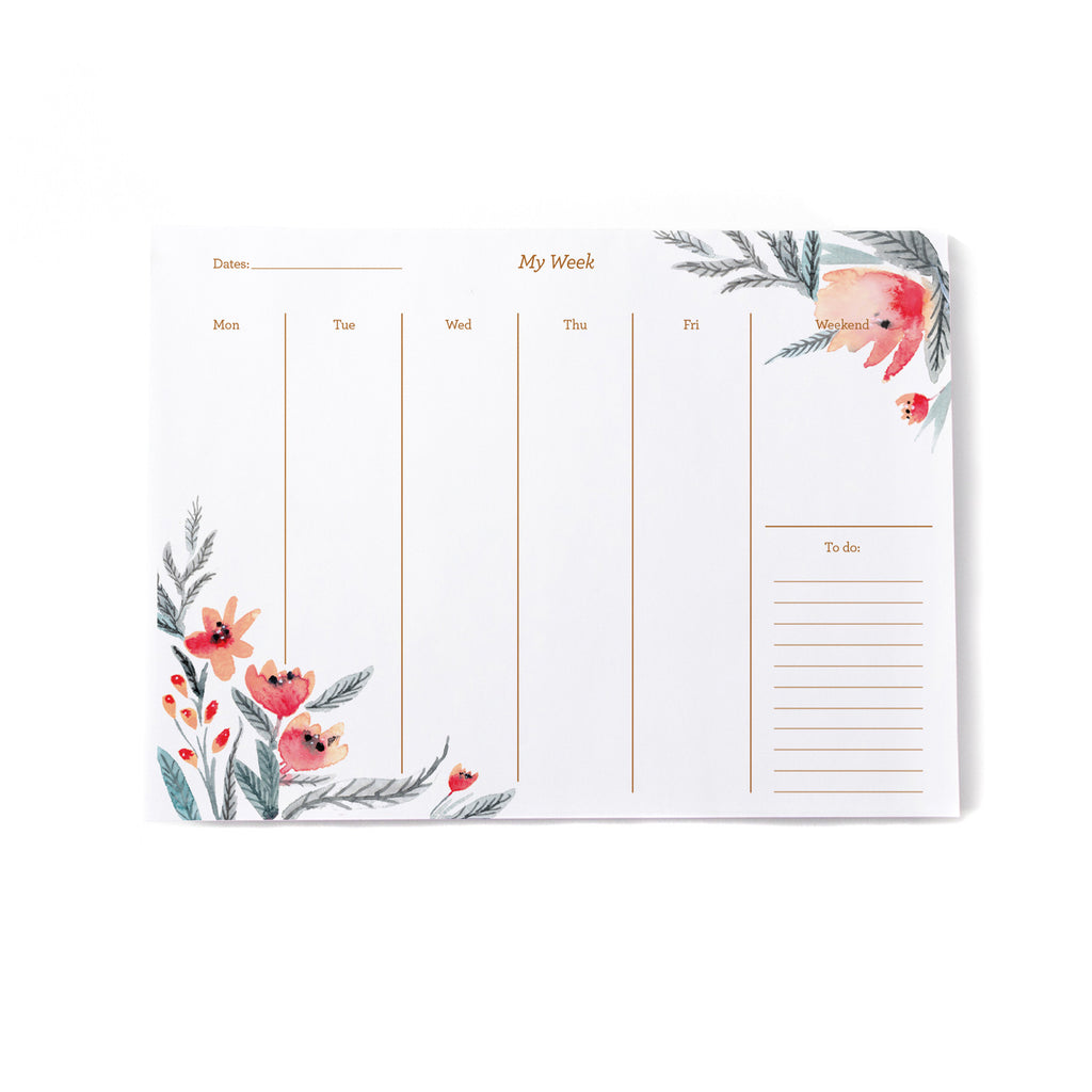 Floral Weekly Planner - Printed Matter