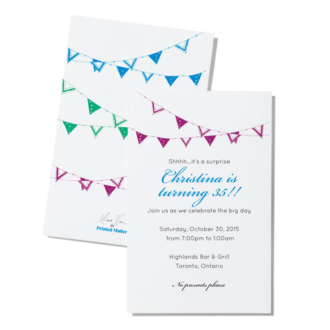 Bunting - Invitation - Printed Matter