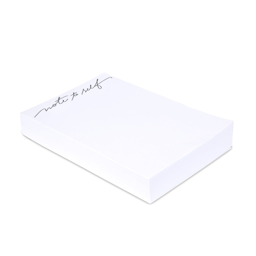 "Medium Calligraphy Note Block - ""Note to Self"" - Printed Matter"