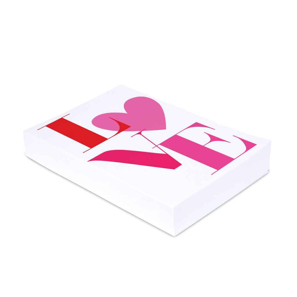 Pink Shades of LOVE - Personalized Medium Noteblock - Printed Matter