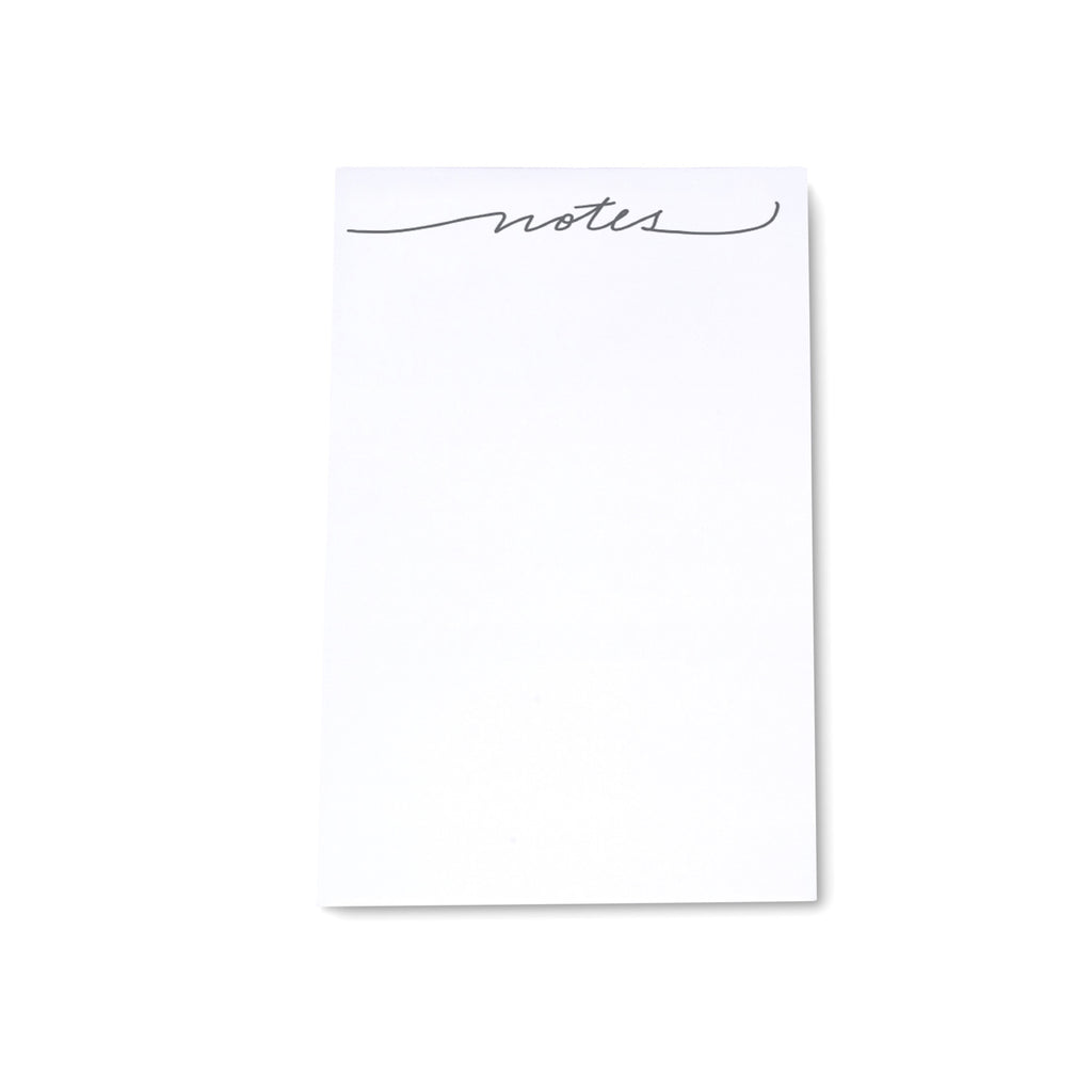 "Medium Calligraphy Note Block - ""Notes"" - Printed Matter"