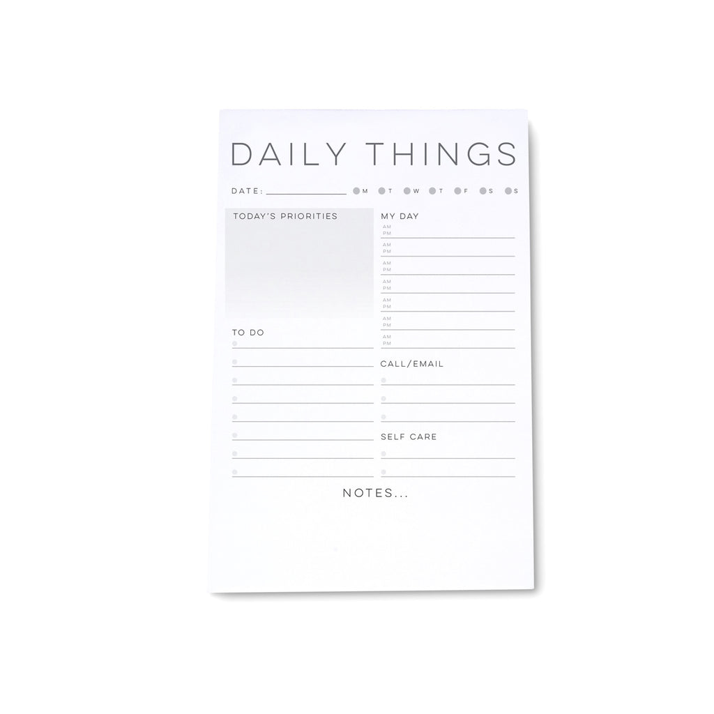 "Medium Note Block - ""Daily Planner"" - Printed Matter"