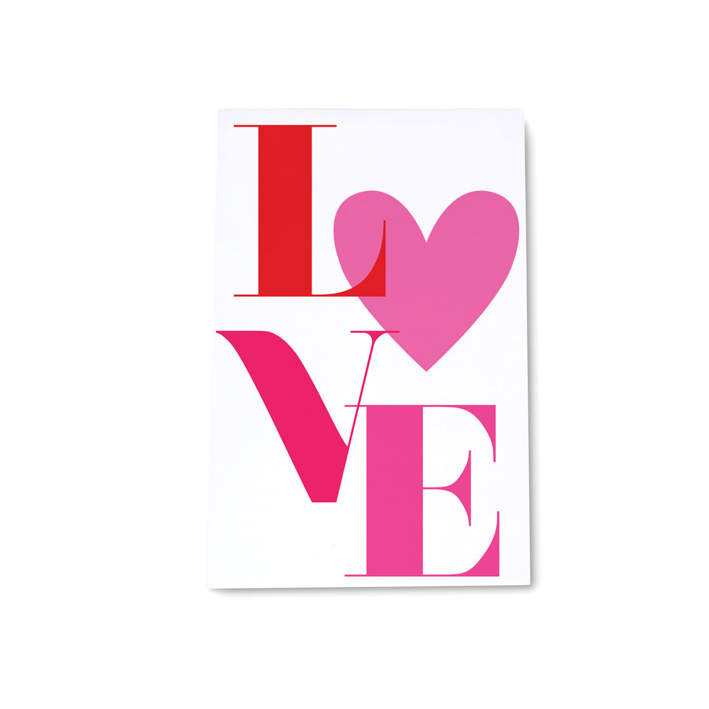 VDAY LOVE - Personalized Medium Noteblock - Printed Matter