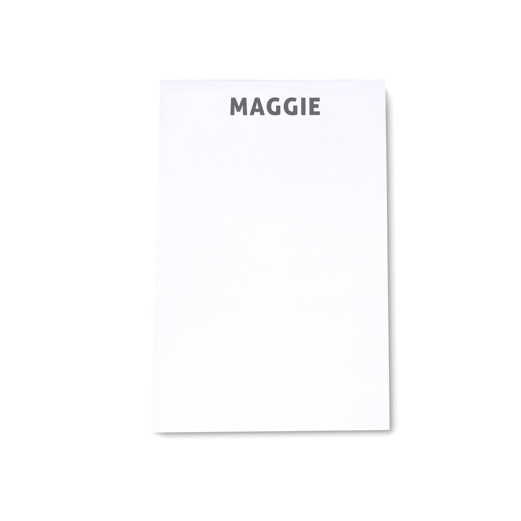 Personalized Medium Note Block - PEACE. LOVE. JOY - Printed Matter