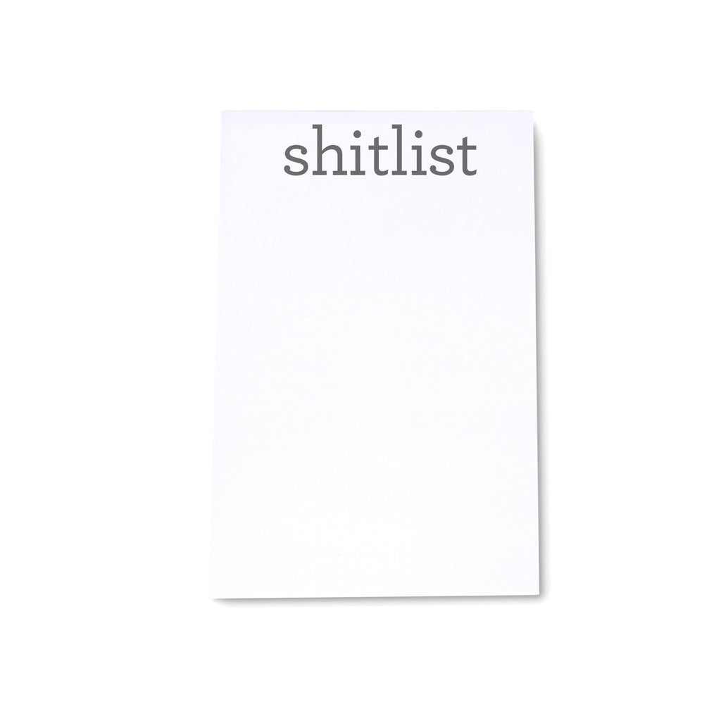 "Medium Note Block - ""Shitlist"" - Printed Matter"