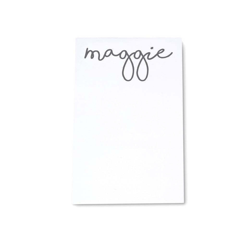 Personalized Medium Note Block Script - Printed Matter