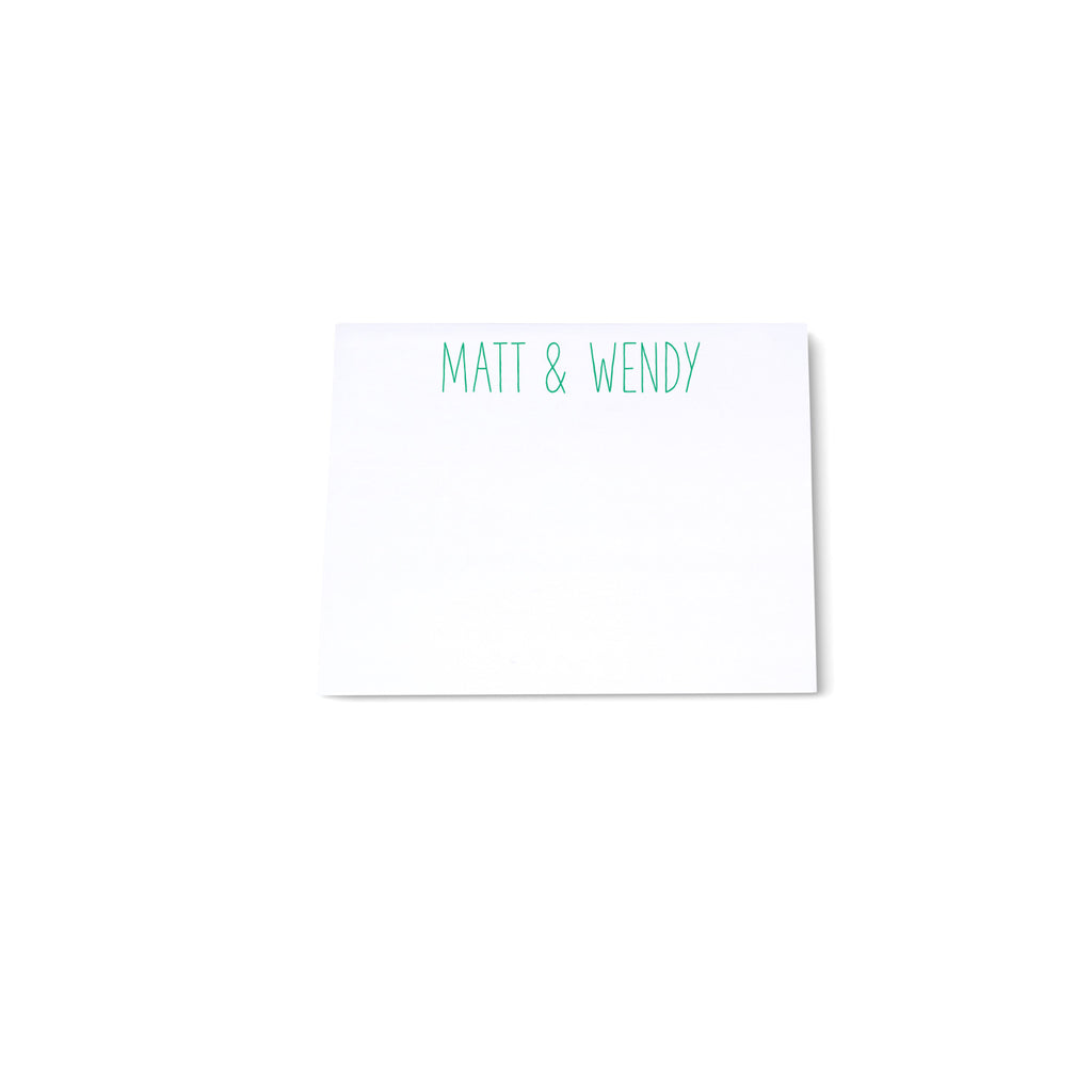 Mini Note Block - Green - Printed Matter