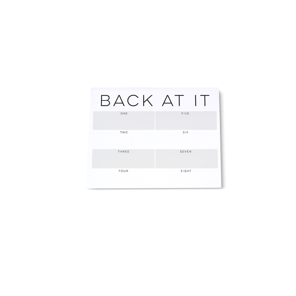 Mini note block - Back at It! - Printed Matter