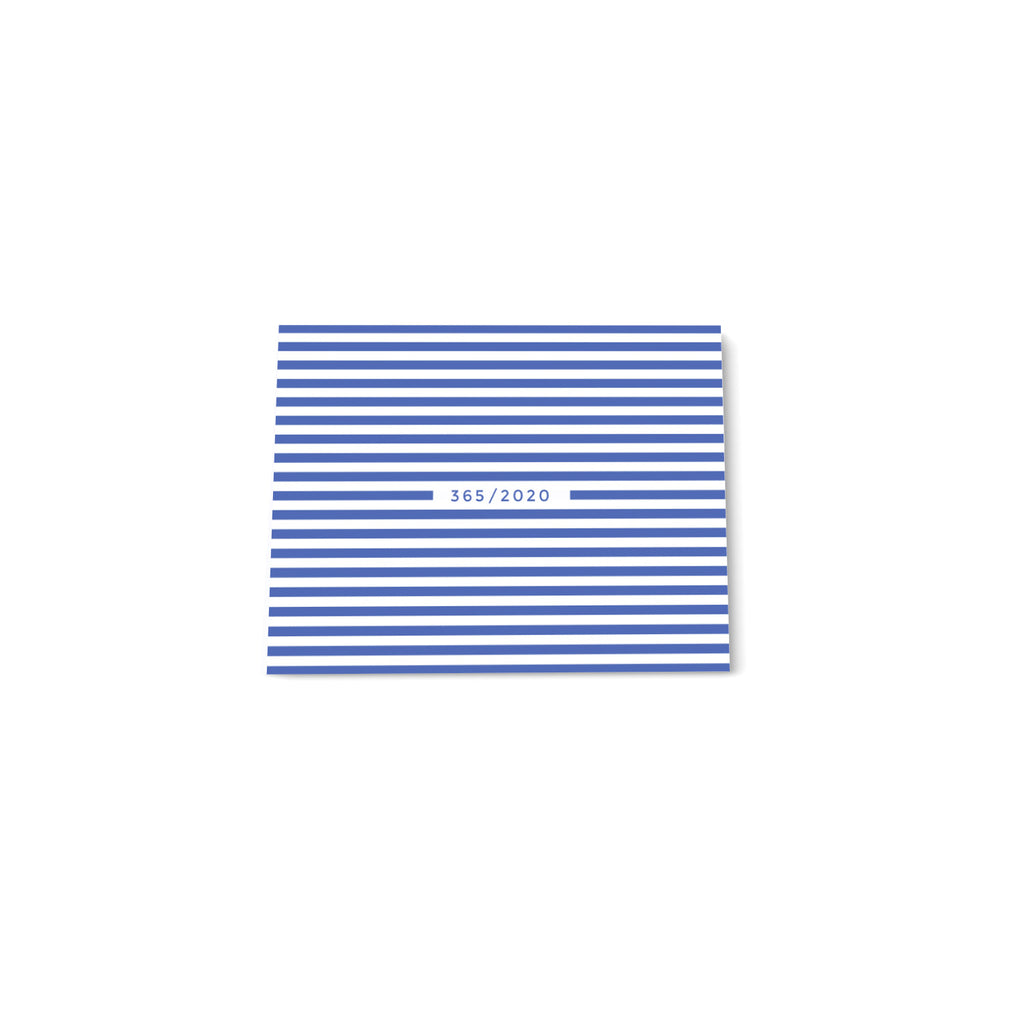 365 Mini note block - Light Blue stripes - Printed Matter