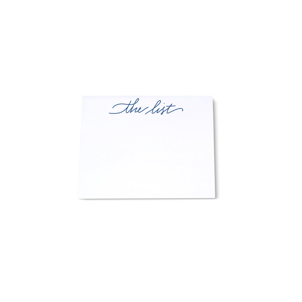 "Mini Calligraphy Note Block - ""The List"" - Printed Matter"