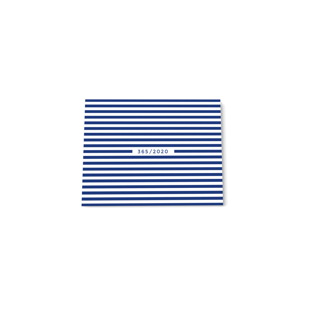 365 Mini note block - Dark Blue stripes - Printed Matter