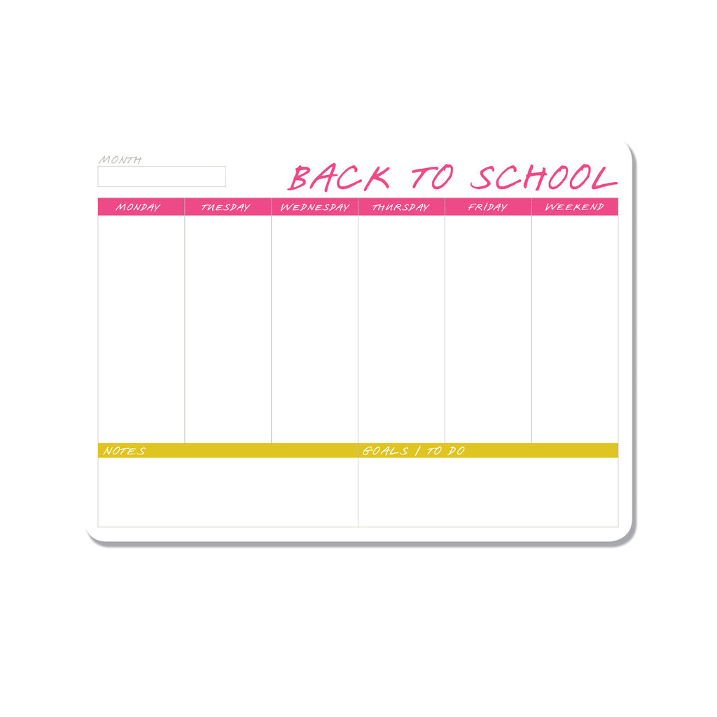 Back To School - Weekly Planner - Printed Matter
