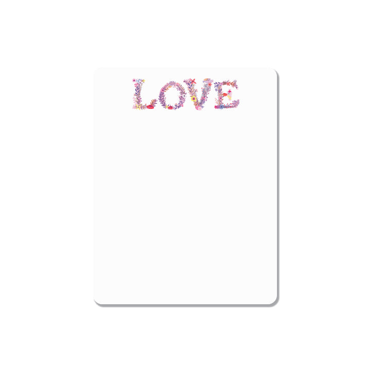 LOVE is in the AIR - ROUND EDGES small note pad