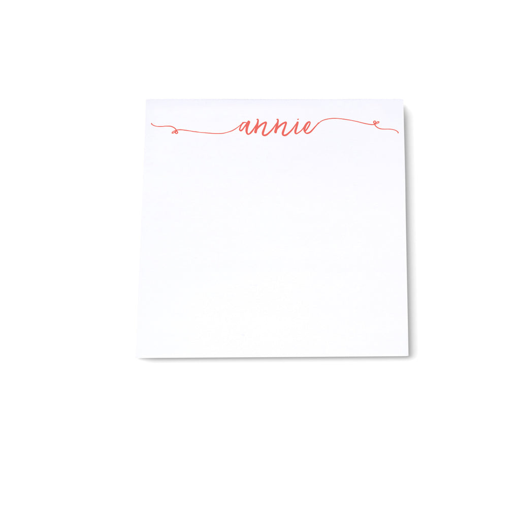 Square Note Block - Coral - Printed Matter