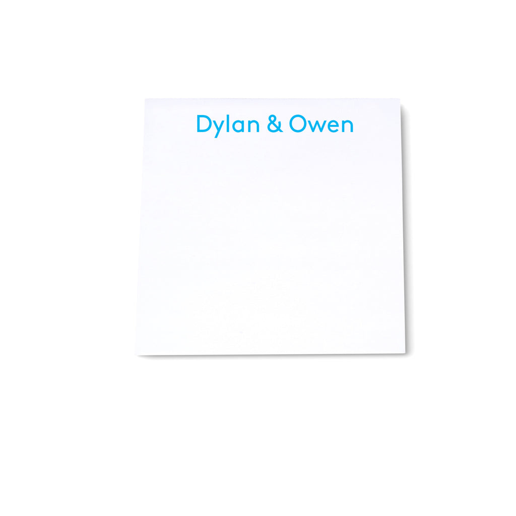 Square Note Block - Light Blue - Printed Matter