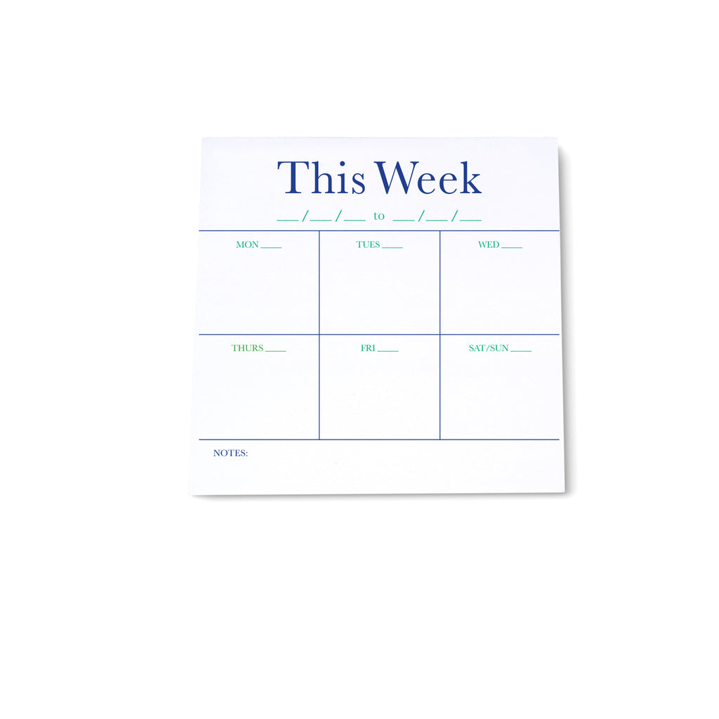Square Note Block - Weekly List