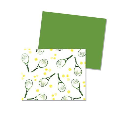 Tennis - Folded Notecard