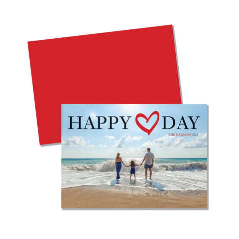 Happy Heart Day - Photo card