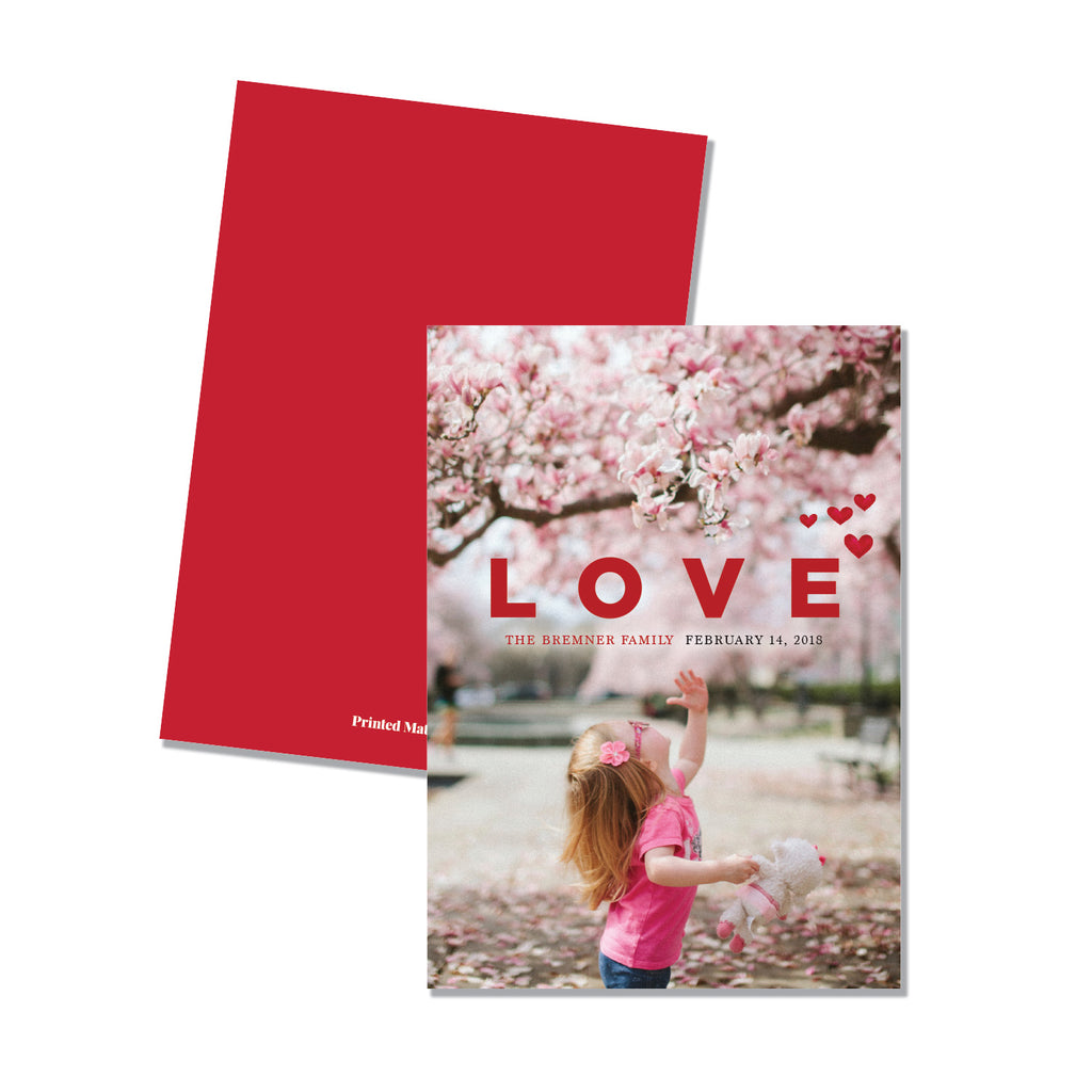 LOVE - Family Photo card (5 x 7) - Printed Matter