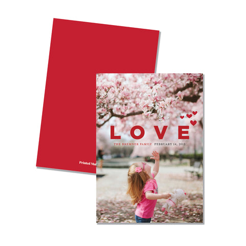 LOVE - Family Photo card (5 x 7)