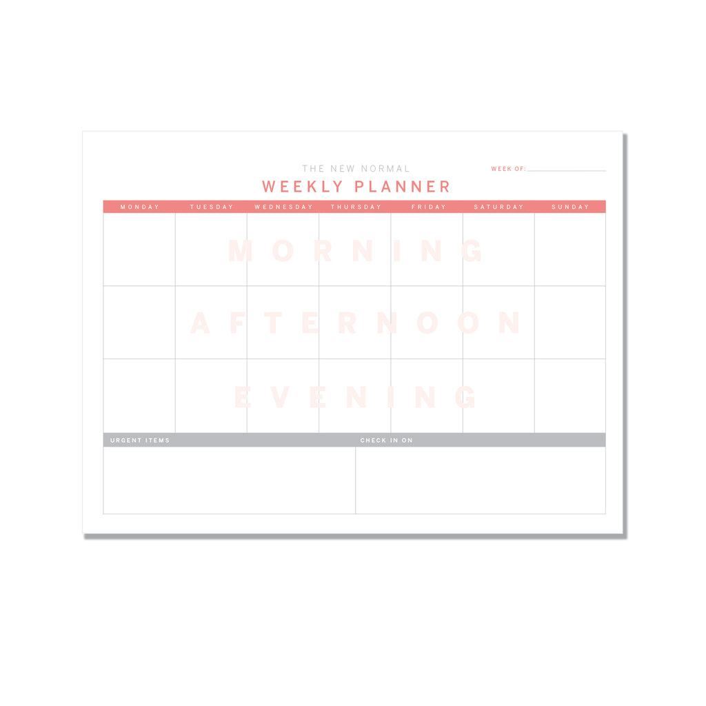 NEW NORMAL - weekly planner - Printed Matter
