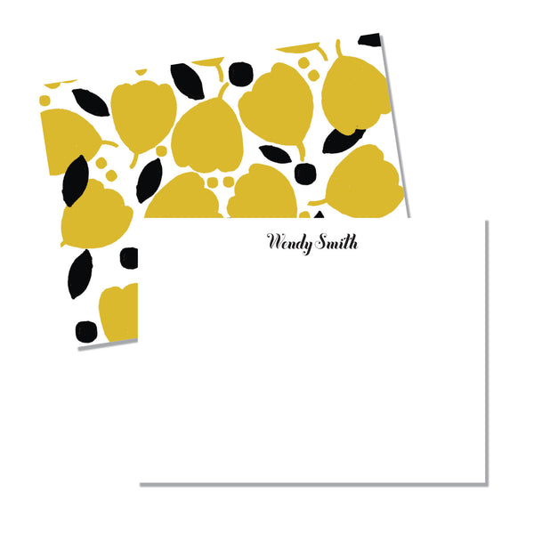 Yellow & black Floral - Printed Matter