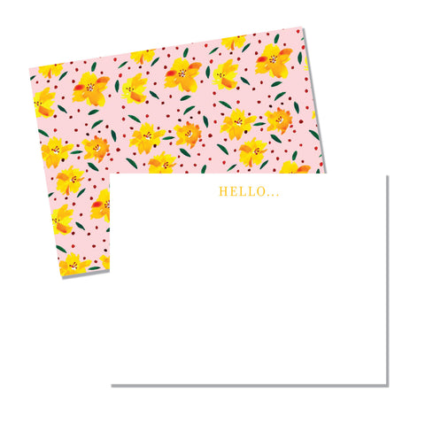 Yellow Floral - Printed Matter