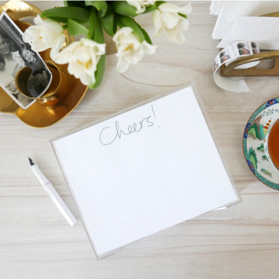 Cheers! Notepad + Lucite Holder - Printed Matter