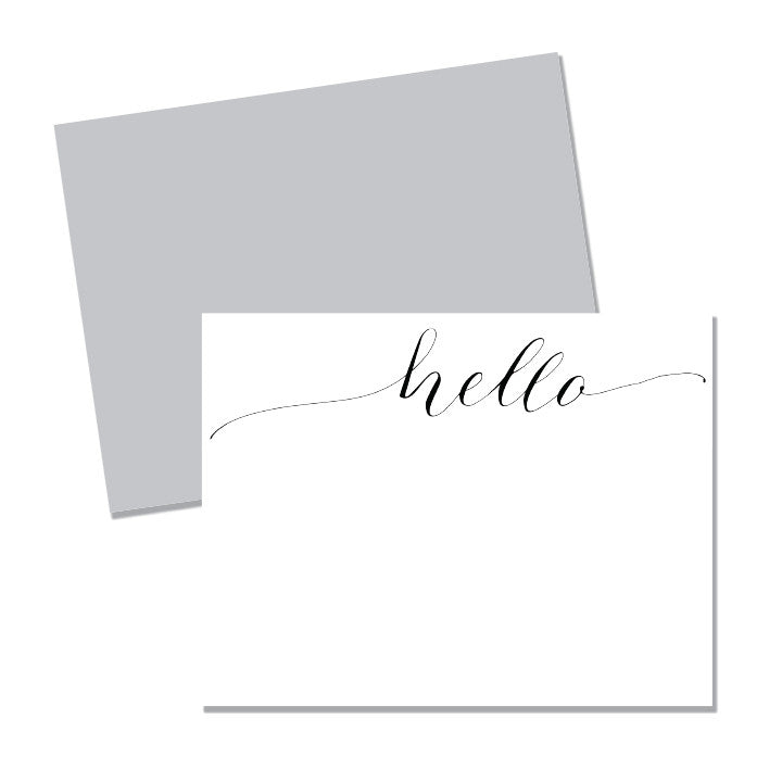 Hello - calligraphy - Printed Matter