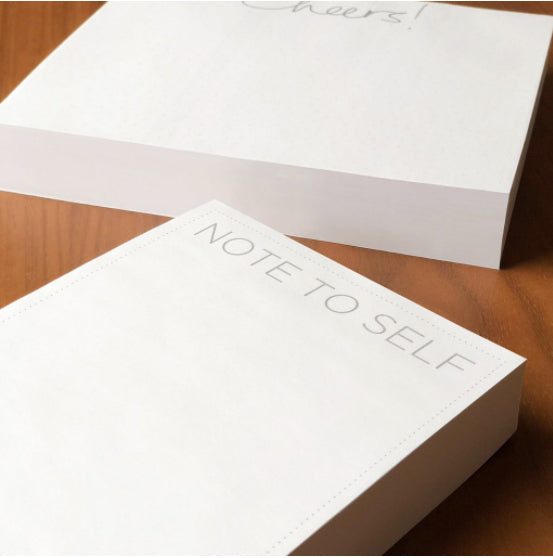 "Medium Note Block - ""Note to Self"" - Printed Matter"