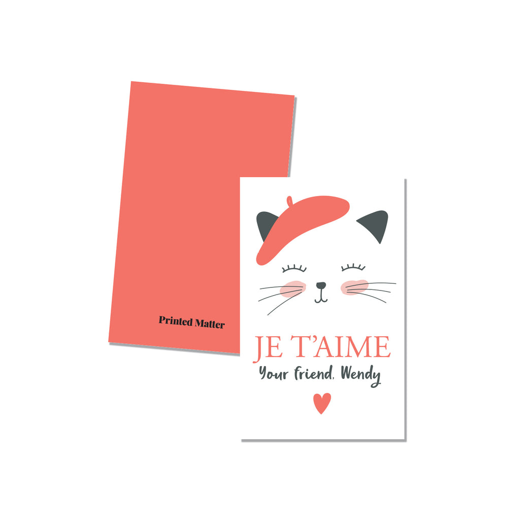 Je T'aime - Printed Matter