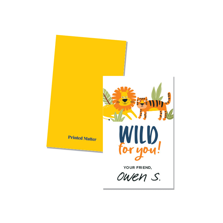 Wild for YOU (Personalized) - Printed Matter