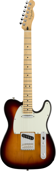 Fender player Telecaster Guitar with Sunburst Finish and Maple Neck