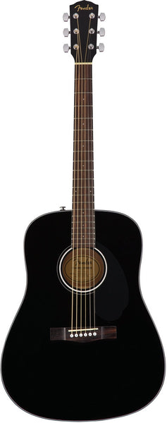 Fender CD 60S Acoustic Guitar in Black