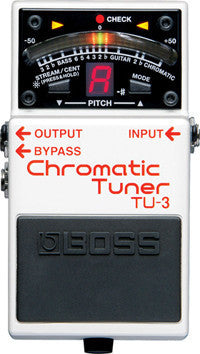 Boss TU-3 Pedal Tuner - Chromatic Guitar Tuner for Stage