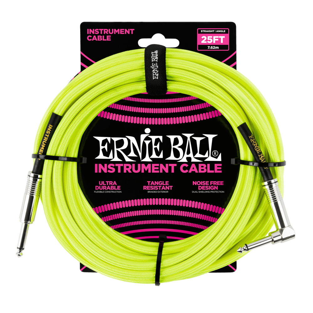 Ernie Ball 25ft Neon Yellow Guitar Cable