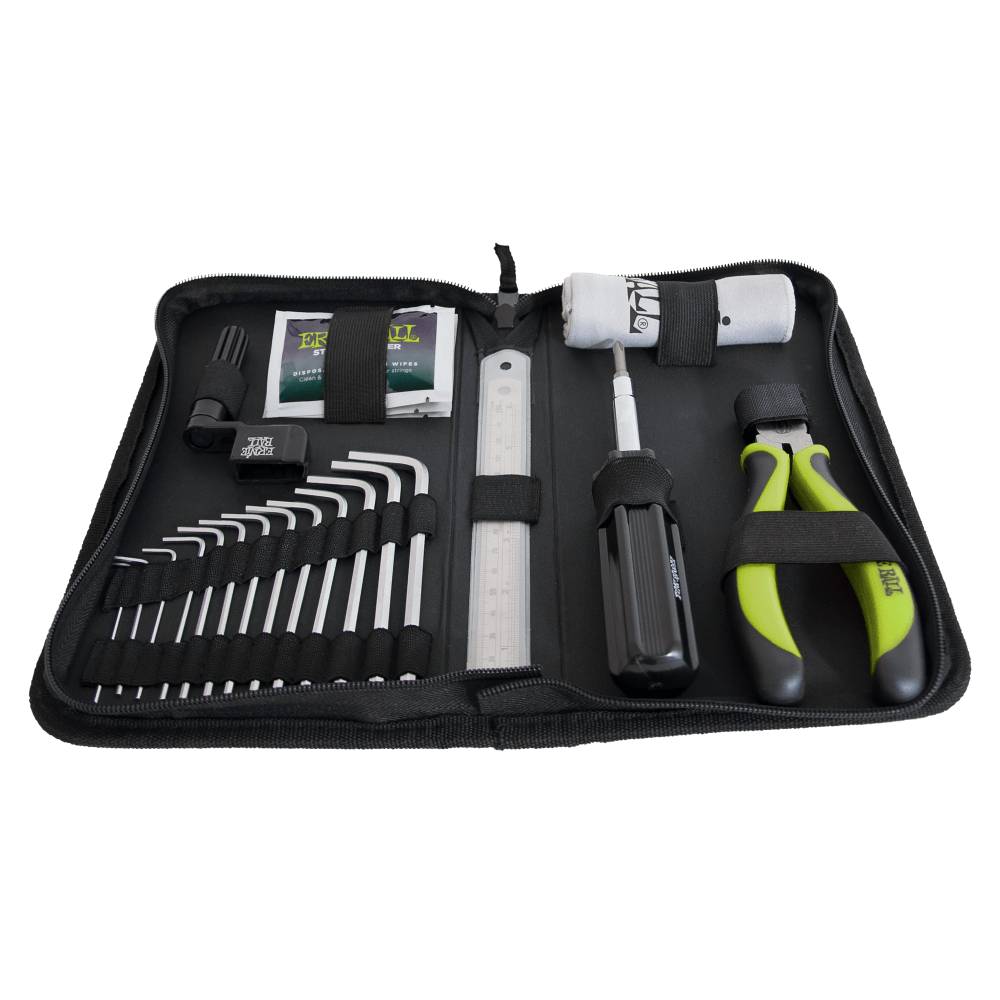 Ernie Ball Musicians Tool Kit For Guitars, Contains Screw Drivers, Hex Wrench, String Cutters,
