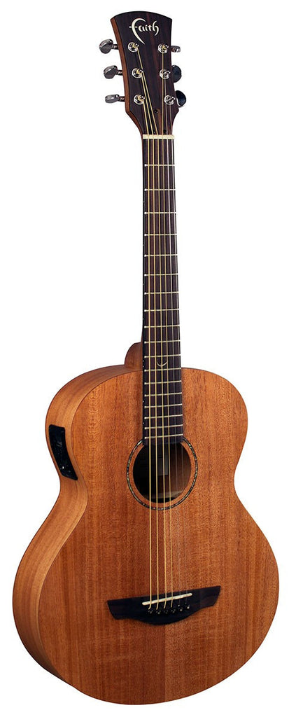 Faith Nomad Mahogany Compact Electro Acoustic Guitar With Gig Bag