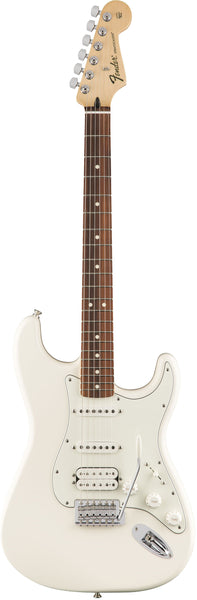fender standard stratocaster hss arctic white electric guitar