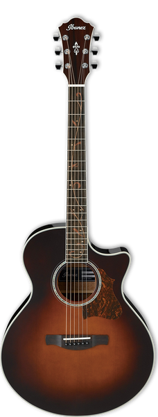 Ibanez AE205-BS Electro Acoustic Guitar in Sunburst