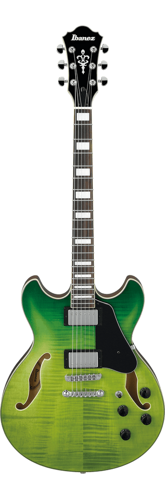 Ibanez AS73FM Green Valley Gradation